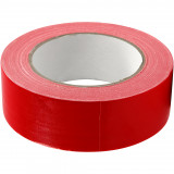 Canvas Tape, B: 38 mm, Rood, 25 M, 1 Rol