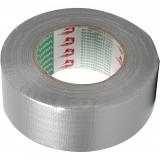Canvas Tape, B: 50 mm, Zilver, 50 M, 1 Rol