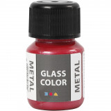 Glass Color Metal, Rood, 30 ml, 1 Fles