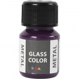 Glass Color Metal, Paars, 30 ml, 1 Fles
