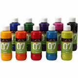 A-color Glass, Diverse Kleuren, 250 ml, 10 Fles