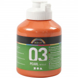 A-color Acrylverf, 03, Metallic, Oranje, 500 ml, 1 Fles