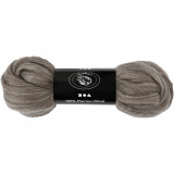 Merino Wol, 21 my, Natural Grey, 100 gr, 1 Bol