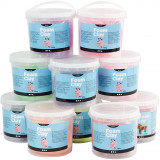 Foam Clay®, Glitter,metallic, 560 gr, 10 Emmer