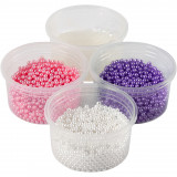 Pearl Clay®, Roze, Paars, Wit, 1 Set, 3x25+38 gr