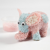 Papier-maché olifant met Pearl Clay