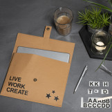 Faux Leather Papier tas met Rub-on stickers