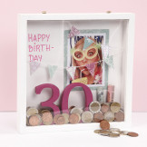 A Money Gift in a deep 3D double-sided wooden Frame